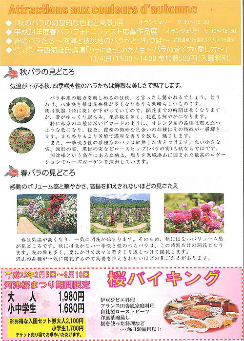 河津バガテル公園「秋バラフェスティバル」ご案内
