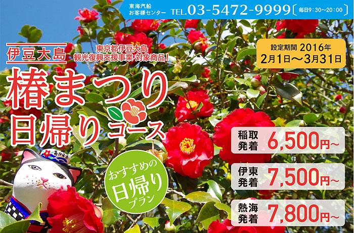 伊豆大島「椿まつり」のご案内